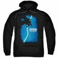Batman pull-over hoodie Dark Knight Rises Cover adult Black