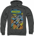 Batman pull-over hoodie Detective #487 adult charcoal