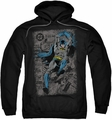Batman pull-over hoodie Detective #487 Distress adult black