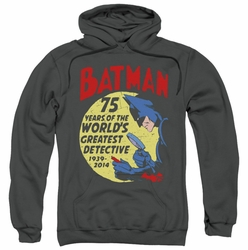 Batman pull-over hoodie Detective 75 adult charcoal