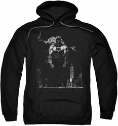 Batman pull-over hoodie Dirty City adult black