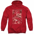 Batman pull-over hoodie DOA Cover adult red
