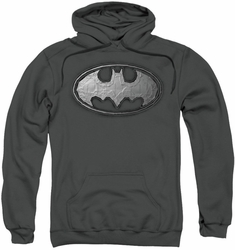 Batman pull-over hoodie Duct Tape Logo adult charcoal