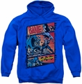 Batman pull-over hoodie Epic Battle adult royal blue