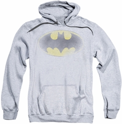 Batman pull-over hoodie Faded Logo adult athletic heather