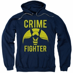 Batman pull-over hoodie Fight Crime adult navy