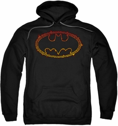 Batman pull-over hoodie Flame Outlined Logo adult black
