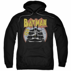 Batman pull-over hoodie Foggy adult black