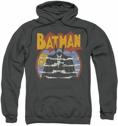 Batman pull-over hoodie Foggy adult charcoal