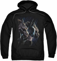 Batman pull-over hoodie Gargoyles adult black