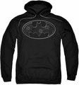 Batman pull-over hoodie Glass Hole Logo adult black