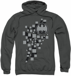 Batman pull-over hoodie Gotham 3D adult charcoal