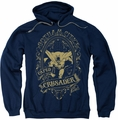 Batman pull-over hoodie Gotham Caped Crusader adult navy