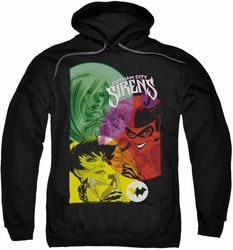 Batman pull-over hoodie Gotham Sirens adult black