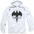 Batman pull-over hoodie Gothic Gotham adult white