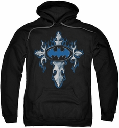 Batman pull-over hoodie Gothic Steel Logo adult black