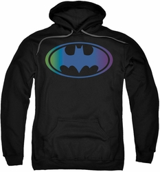 Batman pull-over hoodie Gradient Bat Logo adult black
