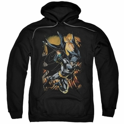 Batman pull-over hoodie Grapple Fire adult black