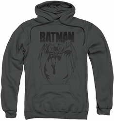 Batman pull-over hoodie Grey Noise adult charcoal