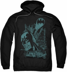 Batman pull-over hoodie Gritted Teeth adult black