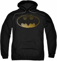 Batman pull-over hoodie Halftone Bat adult black