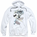 Batman pull-over hoodie Halftone Swing adult white