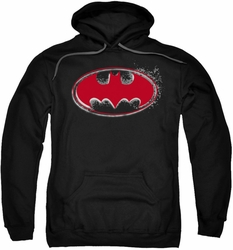 Batman pull-over hoodie Hardcore Noir Bat Logo adult black