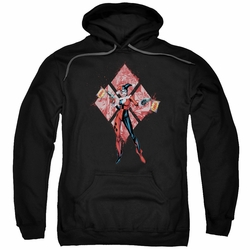 Batman pull-over hoodie Harley Quinn (Diamonds) adult Black