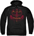 Batman pull-over hoodie Heart Of Fire adult black