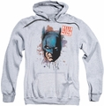 Batman pull-over hoodie Hello adult athletic heather
