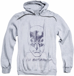 Batman pull-over hoodie I'm Batman adult athletic heather