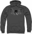 Batman pull-over hoodie Ill Omen adult charcoal