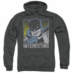 Batman pull-over hoodie Interesting adult charcoal