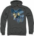 Batman pull-over hoodie Into The Night adult charcoal