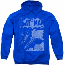 Batman pull-over hoodie Issue 1 Cover adult royal blue