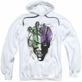 The Joker pull-over hoodie Airbrush adult white