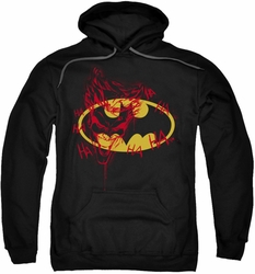 Joker pull-over hoodie Graffiti adult black