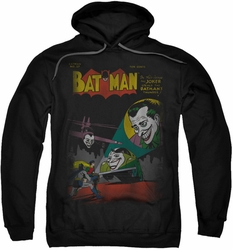 Batman pull-over hoodie Joker Wrong Signal adult black