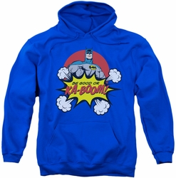 Batman pull-over hoodie Kaboom adult royal blue