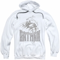 Batman pull-over hoodie Knight Sketch adult white