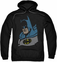Batman pull-over hoodie Lite Brite Batman adult black