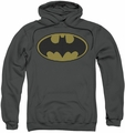 Batman pull-over hoodie Little Logos adult charcoal