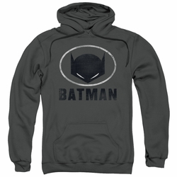 Batman pull-over hoodie Mask In Oval adult charcoal