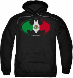 Batman pull-over hoodie Mexican Flag Shield adult black