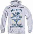 Batman pull-over hoodie Money adult athletic heather