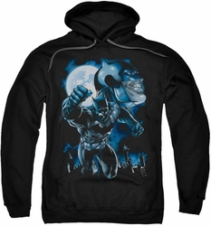 Batman pull-over hoodie Moonlight Bat adult black