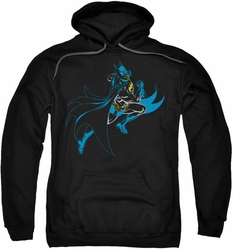 Batman pull-over hoodie Neon Batman adult black