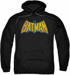 Batman pull-over hoodie Neon Distress Logo adult black