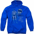 Batman pull-over hoodie Night Life adult royal blue