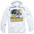 Batman pull-over hoodie Night Off adult white